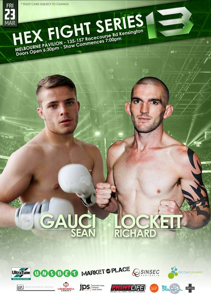Hex Fight Series 13 brings fight fans an exciting flyweight clash as Sean Gauci meets Richard Lockett.</p> <p>Rising Flyweight prospect Sean Gauci returns to the Hex cage, fresh off his hard-fought victory over Steve Erceg at Hex 12. The Dominance MMA Richmond fighter possesses a well-rounded skill set, and has achieved 4 wins since becoming a pro in 2014, including 2 via KO.</p> <p>Perth's Richard Lockett has made a habit of finishing his adversaries in quick fashion. The undefeated youngster has achieved two wins as a professional, and neither of his opponents were able to make it out of the 1st round. Lockett now looks to continue on his path to stardom, when he returns to the Hex cage on March 23rd.</p> <p>Don't miss this thrilling battle between two of the best rising Flyweight's in the region.